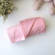 pink inabel blanket with japanese cotton reverse print