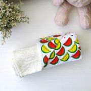 yellow blanket with watermelon print reverse (japanese cotton)