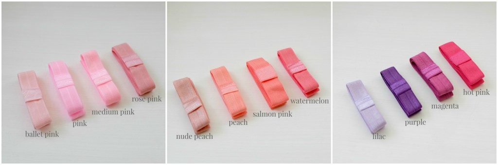 Soft Elastics - Pinks