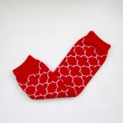 leg warmers - red quatrefoil