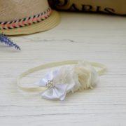 mini rio duo & silk bow - classic white