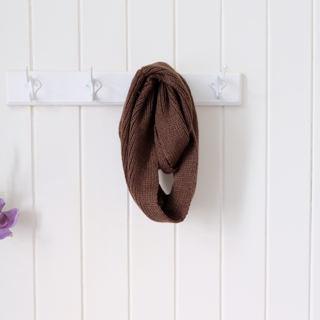 Knit Infinity Scarf Chocolate Style Me Little