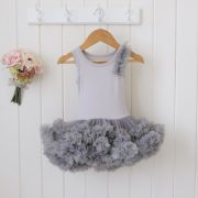 Infant Petti Dress in Fancy Gray