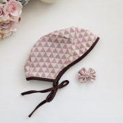Bonnet - Geometric Rose Pink