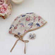Sun Bonnet - Pink Blue Flamingo